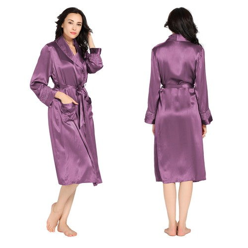 22 Momme Delicately Designed Silk Robe