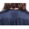 Navy Blue Women Silk Nightshirt