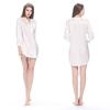 White Women Silk Nightshirt