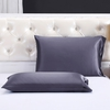 Charcoal Purple Silk Pillowcase