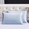 Silver Blue Silk Pillowcase