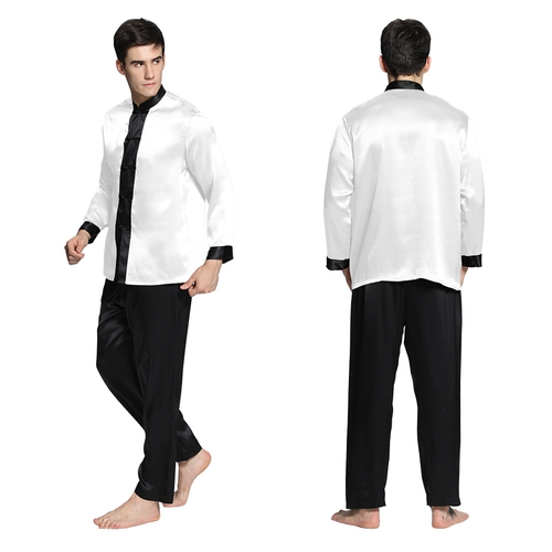 White Men Silk Pyjamas