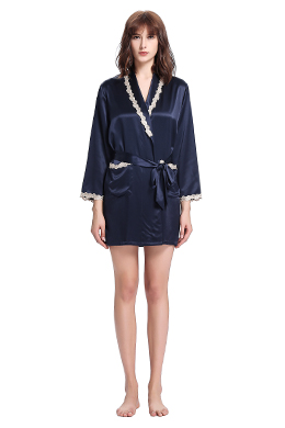 Plus Size Silk Dressing Gown