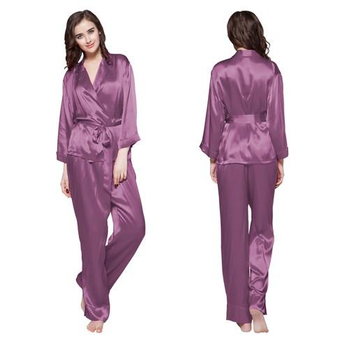22 Momme Vouw Over Classic Zijden Pyjama Set