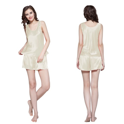 22 Momme Free Scoop Silk Camisole Set