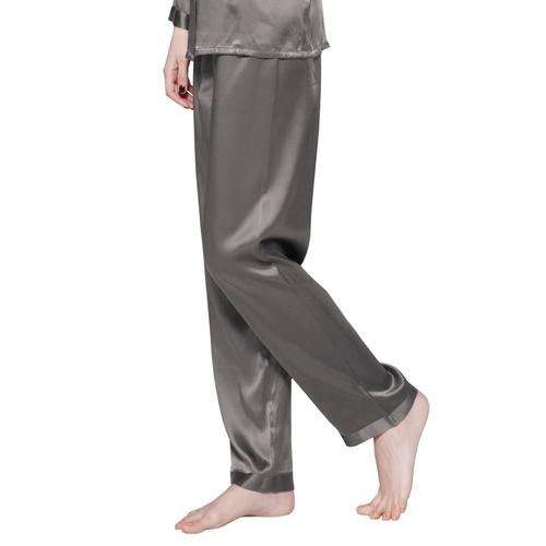 pantaloni di 22 momme seta lunghezza completa