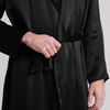 Black Men Silk Dressing Gown