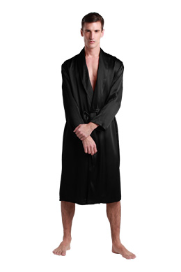 Men Silk Dressing Gown