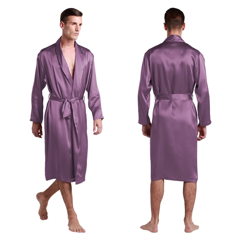 22 Momme Full Length V Neck Silk Robe