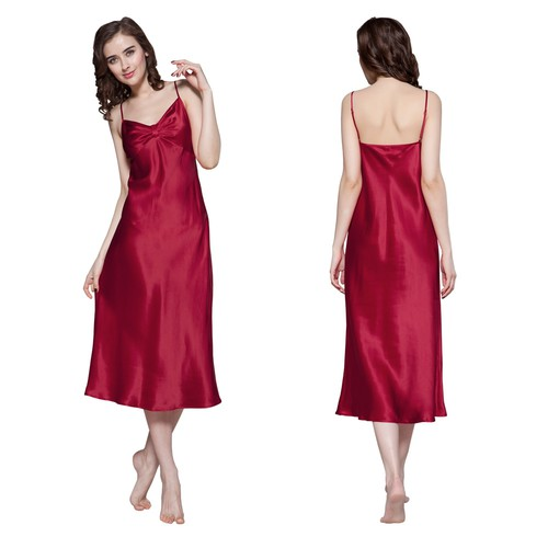 Claret Women Silk Nightgown