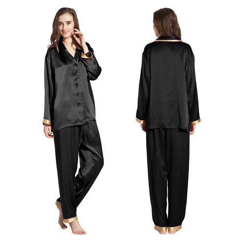 Black Silk Sleepwear