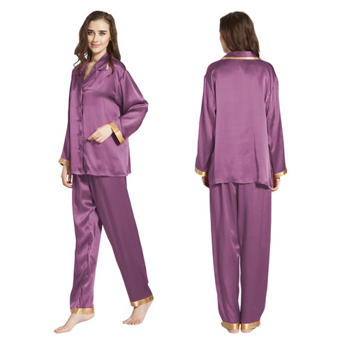 22 Momme Gold Cuff Silk Pajama Set