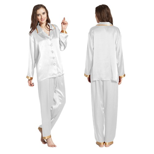 22 Momme Gold Cuff Silk Pajamas Set