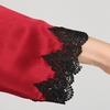 Rojo Vino Pijama Seda Mujer