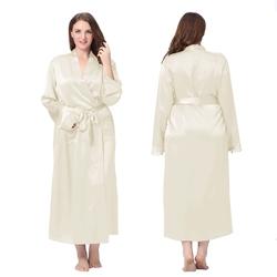 Plus Size Silk Robe