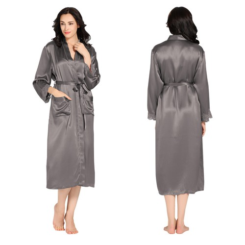 Long silk nightgown