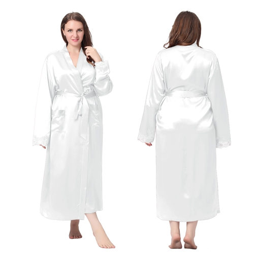 White Plus Size Dressing Gown