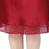Claret Plus Size Silk Nightgown