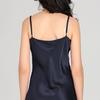 Navy Blue Women Silk Nightgown