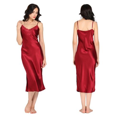 22 Momme Lacey Neckline Silk Nightgown