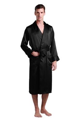 Men Silk Dressing Gown