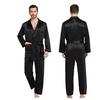 Black Men Silk Pajamas