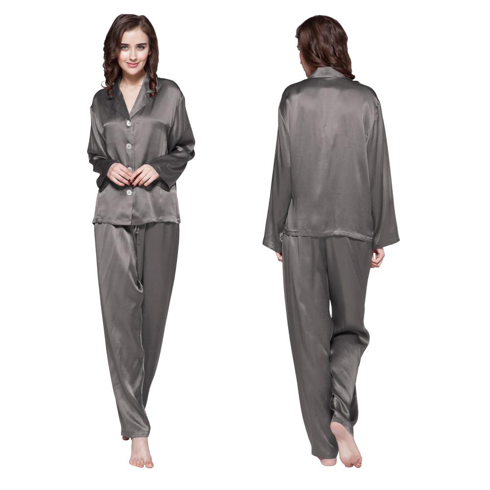 ensemble pyjama en soie naturelle de 22 mm boutons. Black Bedroom Furniture Sets. Home Design Ideas