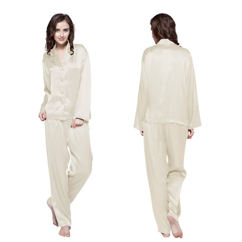 22 Momme Long Classic Silk Pajama Set