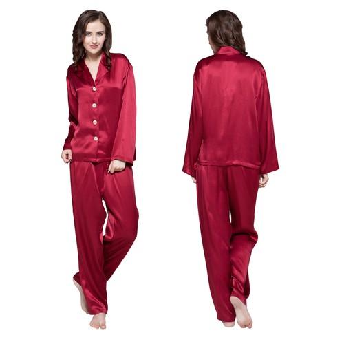 White Women Silk Pyjamas