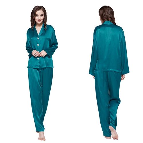 Set pigiama lunga di 22 momme seta Classico