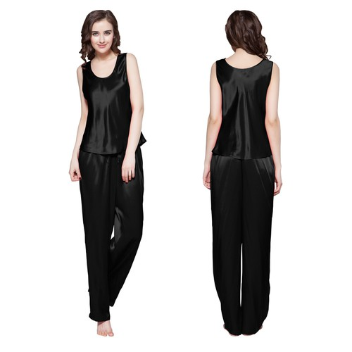 Black Silk Pajamas