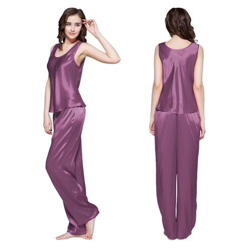 22 Momme Long Silk Camisole Set