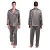 Donker Grijs Zijde Pyjama Heren