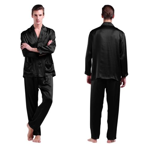 22 Momme Long Silk Pajamas Set for Men