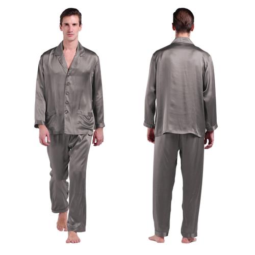 22 Momme Lange Zijden Pyjamas Set voor Heren