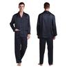 Navy Blue Men Silk Pyjamas