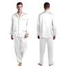 White Men Silk Pajamas