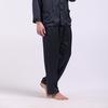 Navy Blue Men Silk Pants