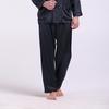 Marine Blauw Zijde Pyjama Heren