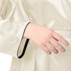 Beige Plus Size Silk Robe