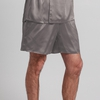 Dark Gray Men Silk Bottom