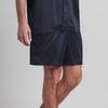 Navy Blue Men Silk Bottom