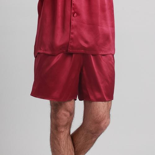 Gris Oscuro Pantalón Seda Hombre