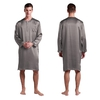 Dark Gray Men Silk Dressing Gown