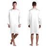 White Men Silk Nightshirt