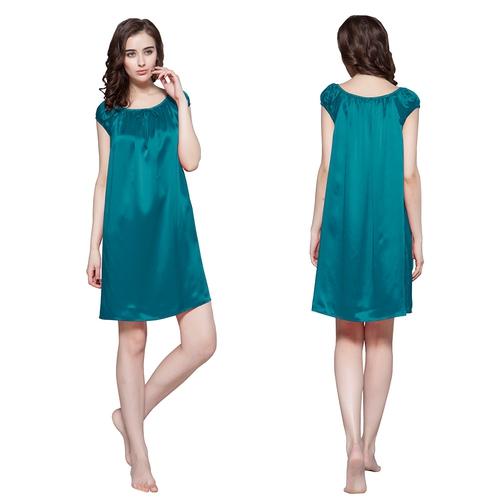 Blu reale Camicia da notte di seta donna