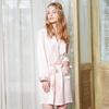 Light Pink Women Silk Robe