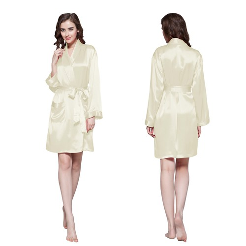 22 Momme Mid Length Silk Robe