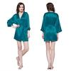 Bleu Royal Robe de Chambre Femme Soie