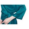 Dark Teal Women Silk Robe